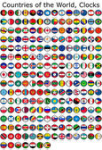 Flag of the world clocks — Stock Photo