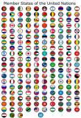 Флаг часы мира — Стоковое фото