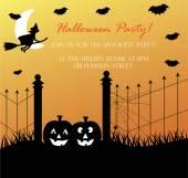 Spooky Halloween Invite — Stock Vector