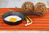 Pan with Egg  — Stock Photo