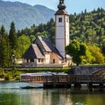 ������, ������: Church of St John the Baptist Bohinj Lake Slovenia