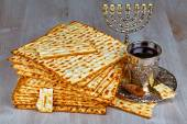 Jewish passover bread — Stock Photo