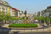 Wenceslas Square — Stock Photo