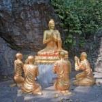 Buddha and his disciples in Luang Prabang — Stock Photo #52742661