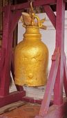 Golden bell in Buddhist temple — Foto Stock