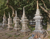 Old tombstones in Luang Prabang — Stock Photo