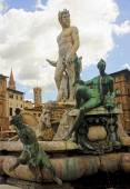 Beautiful fountain of Neptune in Florence — ストック写真