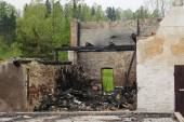 House ruin after fire — Stock Photo