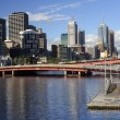 Yara River in Melbourne - view of the center — Stock Photo #63859353