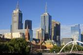 Yara River in Melbourne - view of the center — Stock Photo