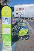KATOWICE, POLAND - JULY 19, 2015: Bicycle rental in the city cen — Stock Photo
