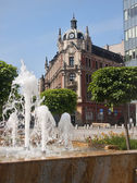 Renovated main square in Katowice is the venue for exhibitions a — Stock Photo