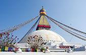 Boudhanath stupa em kathmandu, nepal — Fotografia Stock