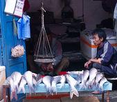 Street trade of the fish in Kathmandu, Nepal.  — Stock Photo