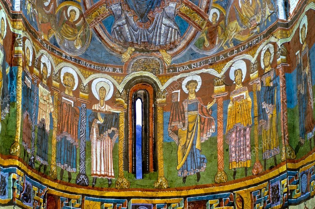 Fresco de la iglesia de sant climent de taull — Foto ...