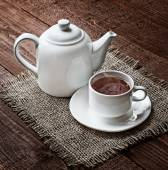 Tea cup and  teapot  — Stock Photo