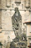 Statues on Charles Bridge — Stock Photo