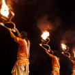 Ganga Aarti ritual in Varanasi. — Stock Photo #58352641