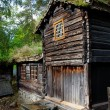 Norwegian House with grass roof. — Stock Photo #58358095