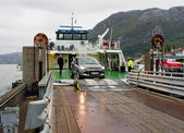 Ferry arriving in Forsand, Norway  — Stock Photo