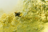 Sulfur of Ebeko Volcano, Paramushir Island — Stock Photo