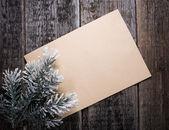Kaart met kerstboom — Stockfoto