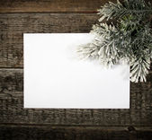 Card with Christmas tree — Stock Photo