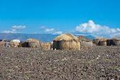 Chozas africanas tradicionales — Foto de Stock