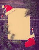 Christmas holiday blank Card — Stock Photo
