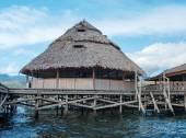 Houses at lake Sentani — ストック写真