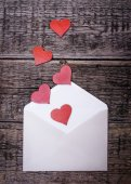 Postcard with hearts — Stock Photo