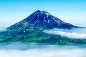Fuss Peak Volcano at Paramushir Island — Stock Photo