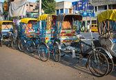 Traditional indian rickshaw — Stock Photo