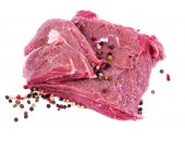 Crude meat and spice — Stock Photo