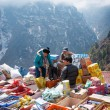 Постер, плакат: Traditional Saturday market in Namche Bazar