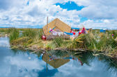 Uros Islands at Lake — Stock Photo