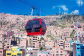 Cable cars  in La Paz — Stock Photo