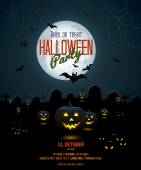 Halloween night poster template — Vettoriale Stock