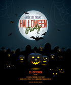 Halloween night poster template — 图库矢量图片