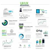 UX infographics elements — Vettoriale Stock