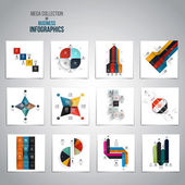 Mega Collection of  Infographics objects  — Stock Vector