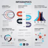 Big set of infographic elements. Flat style. Vector — Stock Vector