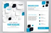 Brochure Design Template — Stock Vector