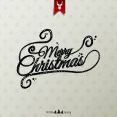 Vintage Christmas Typographical Background — Stock Vector