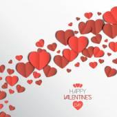 Paper heart love card — Stock Vector