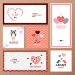 Set of Valentines day greeting card templates — Stock Vector #62192193