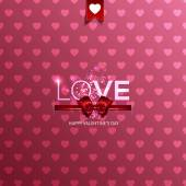 Happy Valentine's Day card with hearts — Stock Vector