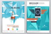 Broschüre design-vorlage — Stockvektor