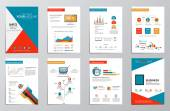 Business infographics elements for corporate brochures — Stock Vector