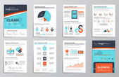 Business infographics elements for corporate brochures — Stok Vektör